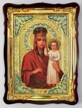 Призри на смирение Божия Матерь, икона храмовая