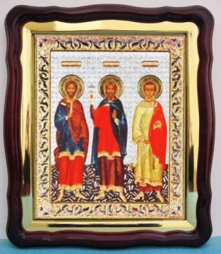 Самон, Гурий, Авив, икона храмовая