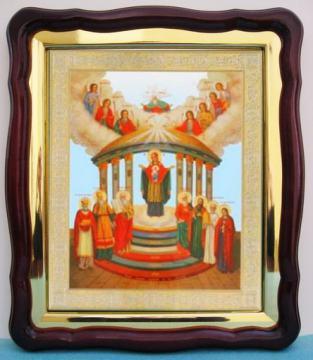 Семистолпная Божия Матерь, большая аналойная икона, 43 х 50 см