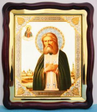 Серафим Саровский, аналойная икона (43 х 50 см)