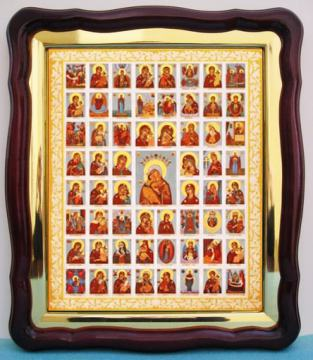 Собор Богородицы, аналойная икона (43 х 50 см)
