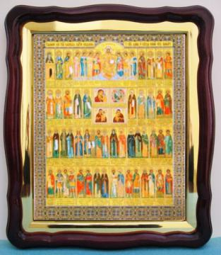 Собор Целителей, аналойная икона (43 х 50 см)