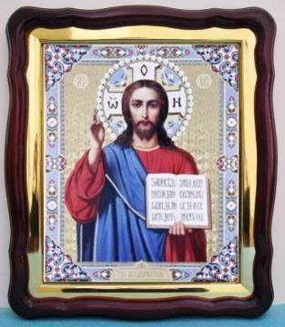 Спаситель (голубые поля), аналойная икона (43 х 50 см)
