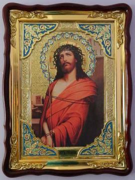 Спаситель в терновом венке, икона храмовая
