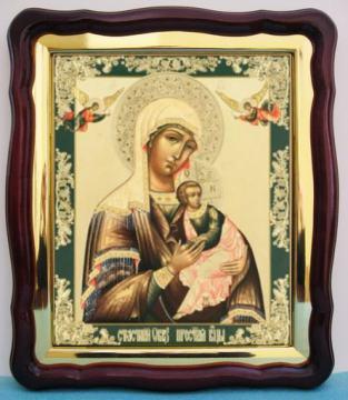 Страстная Божия Матерь, большая аналойная икона, 43 х 50 см
