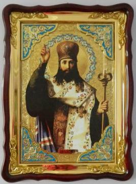 Тихон Задонский, поясной, икона храмовая