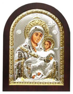 Вифлеемская Божия Матерь, икона в посеребренном окладе