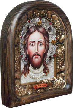 Икона Спас Нерукотворный из бисера