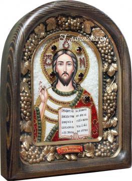 Икона Господа из бисера