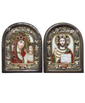 Венчальная пара икон из бисера
