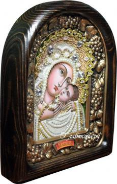 икона Касперовская из бисера в киоте