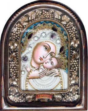 Касперовская Божия матерь, дивеевская икона из бисера