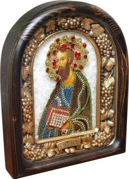 Икона Павла бисером сбоку