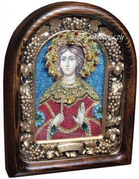 Вероника мученица, дивеевская икона из бисера