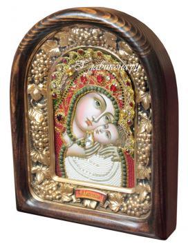 Касперовская Божия матерь (красные одежды), дивеевская икона из бисера