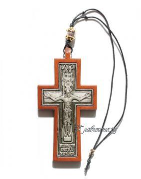 Крест Господня автомобильный подвесной