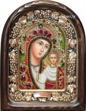 икона казанской божией матери из бисера