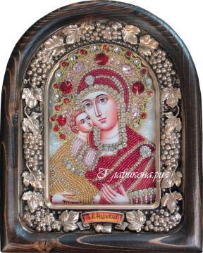 Икона Феодоровская Б.М. из бисера