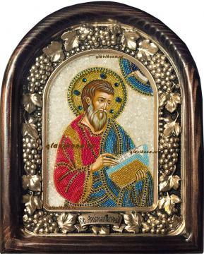 Апостол Матфей, икона бисером