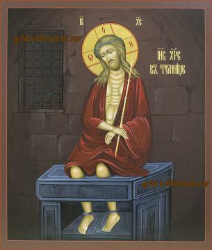 Писаная икона Иисус Христос в темнице, артику 631