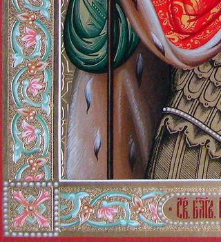 Икона Александра Невского - детали резьбы и орнамента, артикул 505
