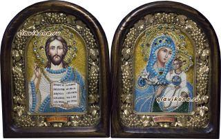 Венчальная пара с иконой Неувядаемый цвет