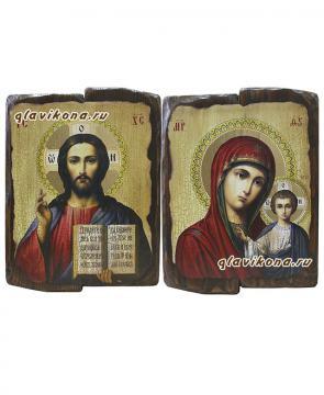 Венчальная пара икон под старину