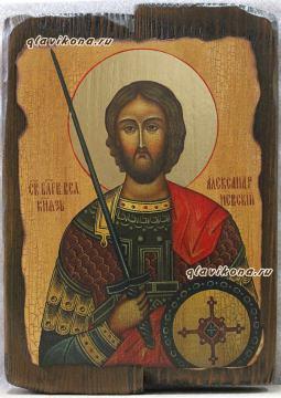 Александр Невский - икона под старину
