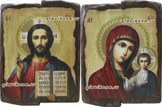 Венчальная пара икона под старину (22х30 см)