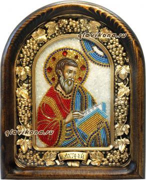 Матфей, икона из бисера