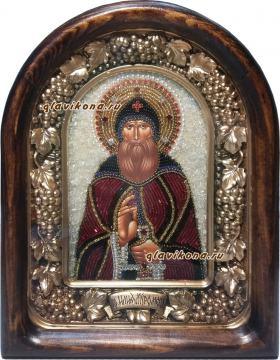 Илья Муромец, икона из бисера