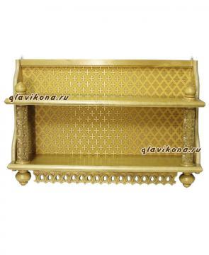 Полка 2-х яр. золотистая с желтой парчей