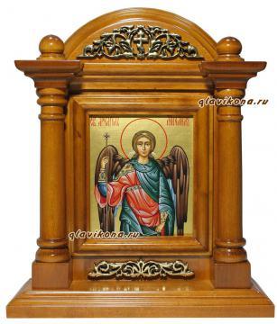 Икона Архангела Михаила в киоте, артикул 6036