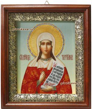 Татьяна мученица, икона на холсте в широком киоте