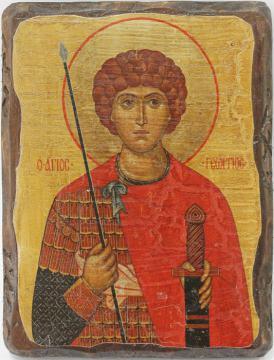 Георгий Победоносец, икона состаренная