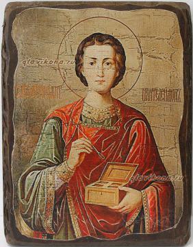 Пантелеймон икона состаренная
