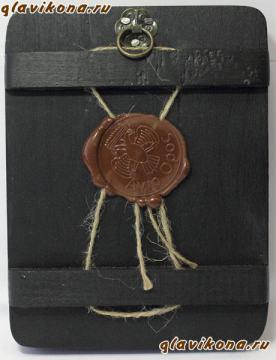 Всевидящее око, икона на дереве, в бархатной коробке