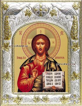 Спаситель (поясной), икона в ризе, артикул 41104
