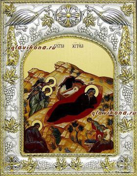 Рождество Христово, икона в ризе, артикул 41641