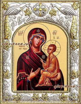 """Божия Матерь """"Тихвинская"""", икона в ризе, артикул 41239"""