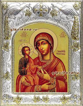 """Божия Матерь """"Троеручица"""", икона в ризе, артикул 41246"""