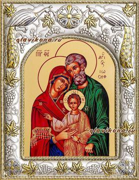Святое Семейство, икона в ризе, артикул 41657
