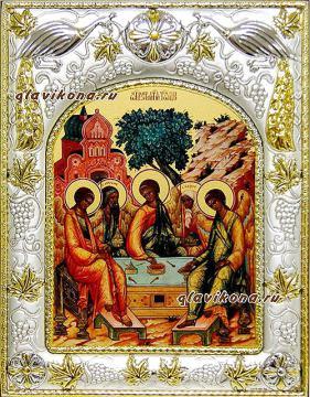 Святая Троица, икона в ризе
