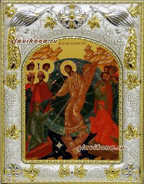 Воскресение Христово, икона в ризе, артикул 41652