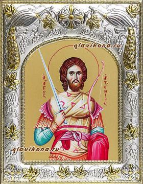 Артемий Антиохийский, икона в ризе, артикул 41922