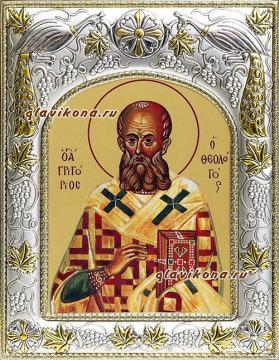 Григорий Богослов, икона в ризе, артикул 41736