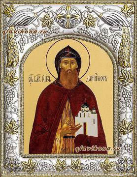 Даниил Московский, икона в ризе, артикул 41412