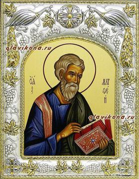 Апостол Матфей, икона в ризе, артикул 41463