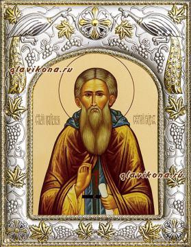 Сергей Радонежский, икона в ризе, артикул 41875