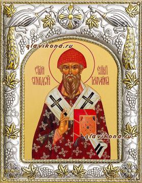 Спиридон Тримифунтский, икона в ризе артикул 41704